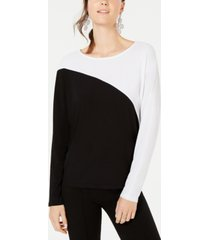 inc long-sleeve colorblocked dolman top, created for macy's