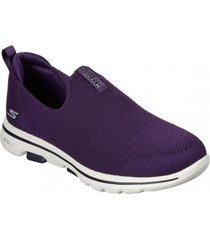 zapatilla morado go walk 5 skechers