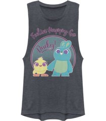 disney pixar juniors' toy story 4 ducky bunny pastel festival muscle tank top