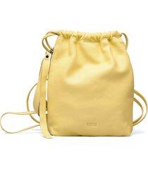 mimmi mini drawstring ryggsäck väska gul lumi