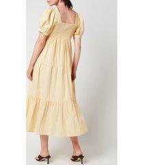 faithfull the brand women's aylah midi dress - plain banana - l