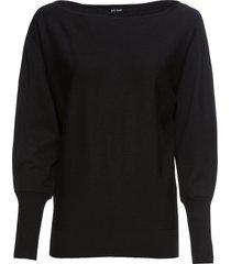 maglione con ampio scollo a barca (nero) - bodyflirt