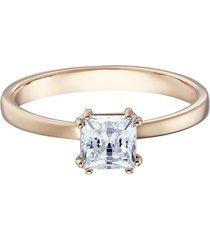 anillo con motivo atractivo, blanco, baño de oro rosa 5515779