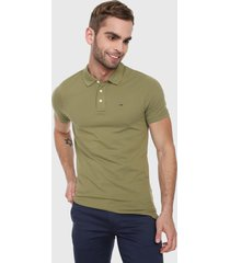 polo verde oliva tommy jeans
