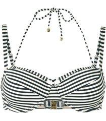 marlies dekkers holi vintage striped double-strap bikini top - blue