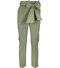 elisabetta franchi celyn b. trousers with darts and bow