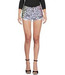 reverse denim shorts