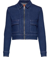 denim cropped jacket jeansjack denimjack blauw superdry