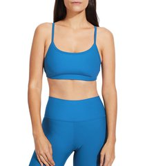 sage collective women's everday sports bra - cerulean - size m