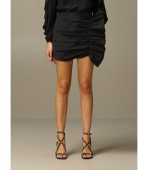 red valentino skirt red valentino short skirt in taffeta with big rouches