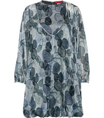persico blouse lange mouwen blauw max&co.