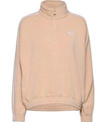 adicolor classics polar fleece half-zip sweatshirt sweat-shirts & hoodies fleeces & midlayers brun adidas originals