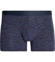 boxer medio estampado tono azul color azul, talla m