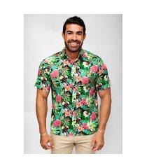 camisa phiphi camisaria havaiana verde