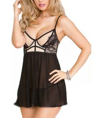 icollection stretch babydoll 2pc lingerie set, online only