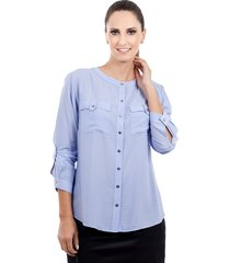camisa love poetry azul lavanda