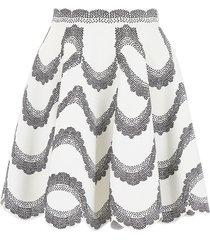 alexander mcqueen knit mini skirt