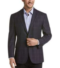 joseph abboud limited edition wine windowpane modern fit sport coat