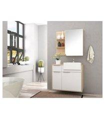 conjunto banheiro com tulha 80 cm faia mdf lilies móveis