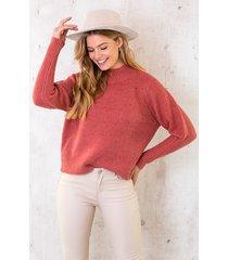 lurex sweater dust koraal