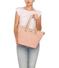 bolsa shopping bag palha wj feminina - feminino