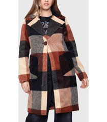 abrigo ellus marrón - calce regular