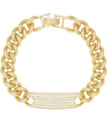 ettika 18k gold bold and righteous women's bracelet