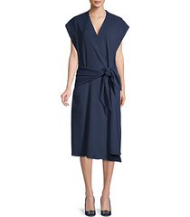 chalky dolman-sleeve wrap dress