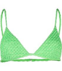 ack textured bikini top - green