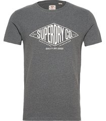 crafted workwear tee t-shirts short-sleeved grå superdry