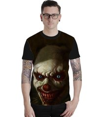 camiseta lucinoze camisetas manga curta creepy clown preto