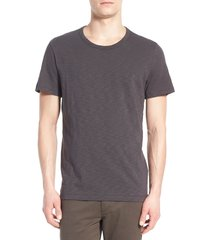 men's vince slub slim fit crewneck t-shirt, size xx-large - grey