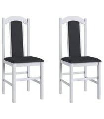 conjunto de cadeiras móveis canção 500 madeira 2 peças brilho
