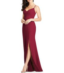 women's dessy collection crisscross seam crepe gown