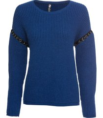 maglione a coste con occhielli (blu) - rainbow