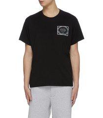label print crewneck t-shirt