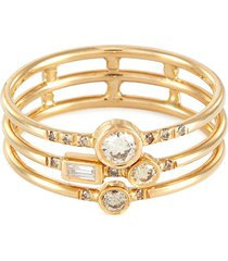 gravity' diamond 14k gold full stack ring