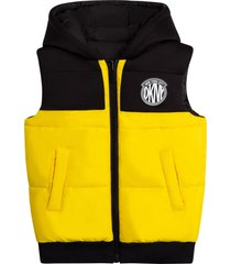 dkny reversible vest with hood