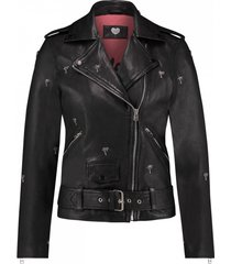 catwalk junkie jk biker palm leather jacket zwart