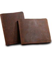 billetera hombre 100% cuero genuino color marron