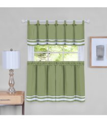 dakota window curtain tier pair and valance set, 58x24