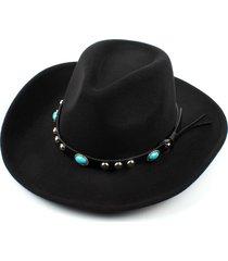 hombre mujervendimia vaquero occidental jazz caballo montar sombrero