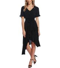 cece ruffle-sleeve belted dress