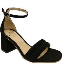 sandalia negra abryl calzados roma