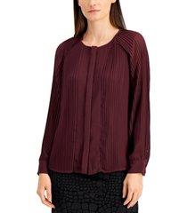 alfani pleated blouse, created for macy's