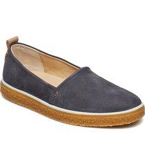 crepetray ladies loafers låga skor blå ecco