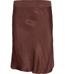 short viscose skirt with zipper closure. knälång kjol röd second female