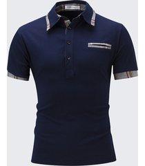 t-shirt da uomo primavera estate tinta unita con maniche corte camicia a maniche corte
