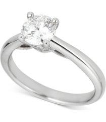 round solitaire diamond engagement ring (1 ct. t.w.) in platinum
