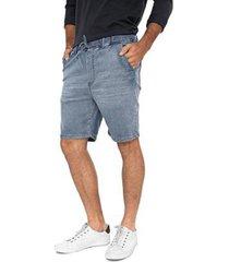 bermuda jeans jogger delavê masculina